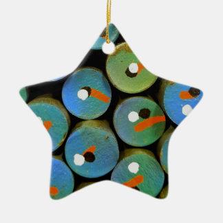 Industrial peacock ceramic ornament