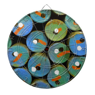 Industrial peacock dartboard