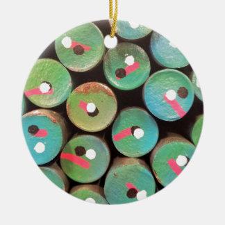 Industrial peacock dull ceramic ornament