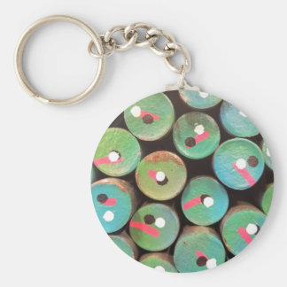 Industrial peacock dull keychain