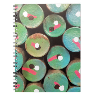 Industrial peacock dull notebook