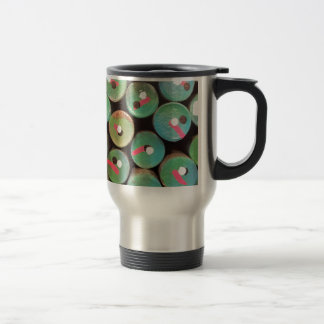 Industrial peacock dull travel mug