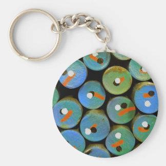 Industrial peacock keychain