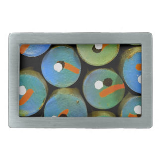 Industrial peacock rectangular belt buckles