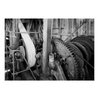 Industrial Photo - Gold Dredge Gear Train Poster