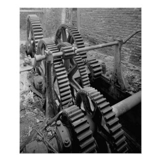 Industrial Photo - Marine Railway Reduction Gears Poster