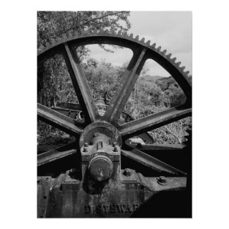 Industrial Photo - Rum Distillery Bearing and Gear Poster