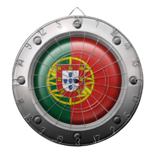 Industrial Portuguese Flag with Steel Graphic Dart Boards