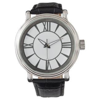 Industrial riveted metal-look design watch