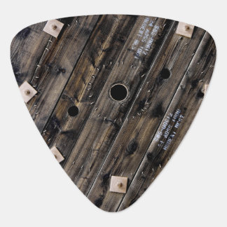Industrial Rustic Wood Guitar Pick