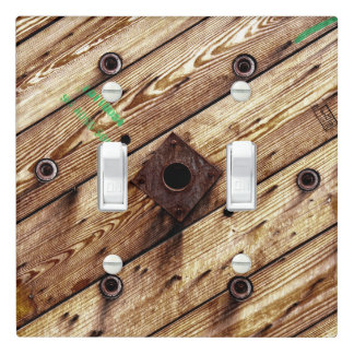 Industrial Rustic Wood Light Switch Cover