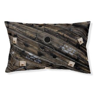Industrial Rustic Wood Pet Bed