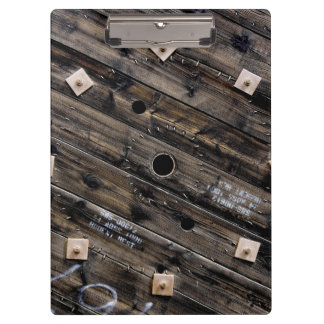 Industrial Rustic Wooden Wire Spool Clipboard
