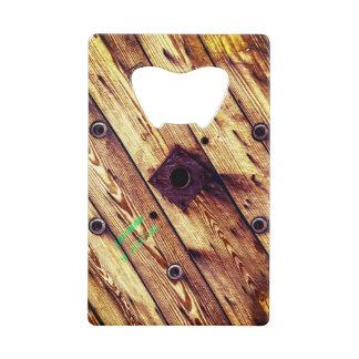 Industrial Rustic Wooden Wire Spool Wallet Bottle Opener