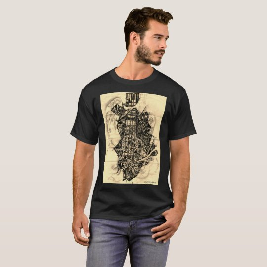 INDUSTRIAL STEAMPUNK GUITAR PIANO KEYS T-Shirt