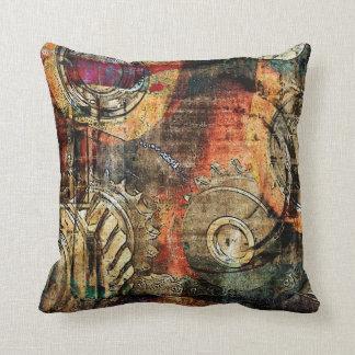 industrial steampunk pillow