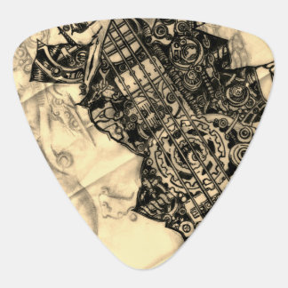INDUSTRIAL STEAMPUNK UNDER FLESH GUITAR PICK