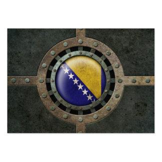 Industrial Steel Bosnia Herzegovina Flag Disc Business Cards