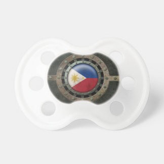 Industrial Steel Filipino Flag Disc Graphic Pacifier