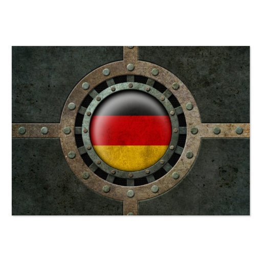 Industrial Steel German Flag Disc Graphic Business Card Templates