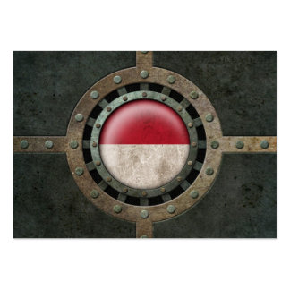 Industrial Steel Monacan Flag Disc Graphic Business Card