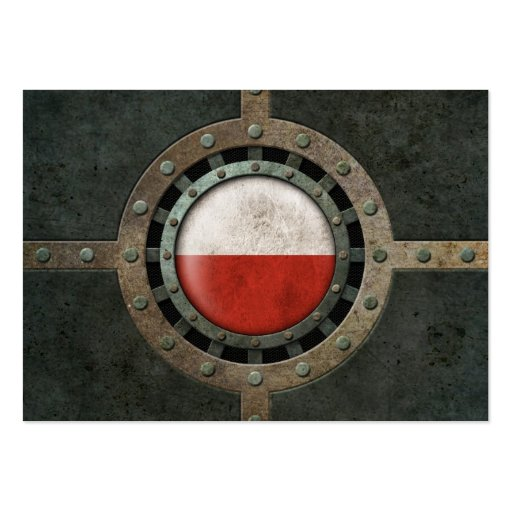 Industrial Steel Polish Flag Disc Graphic Business Cards