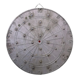 Industrial steel sheet metal dart board