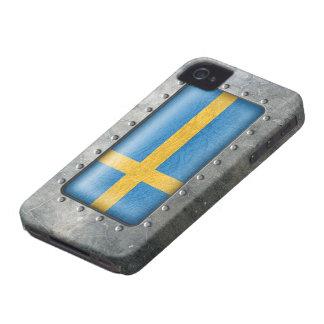 Industrial Swedish Flag iPhone 4 Case