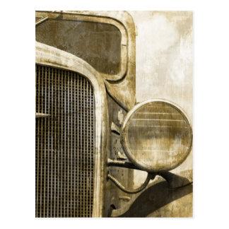 Industrial Western Country Rusty Farm Old Truck Postcard