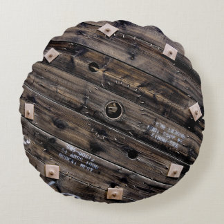 Industrial Wire Spool Round Pillow