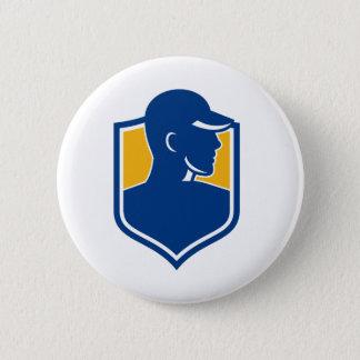 Industrial Worker Crest Icon 2 Inch Round Button