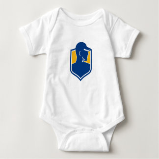 Industrial Worker Crest Icon Baby Bodysuit