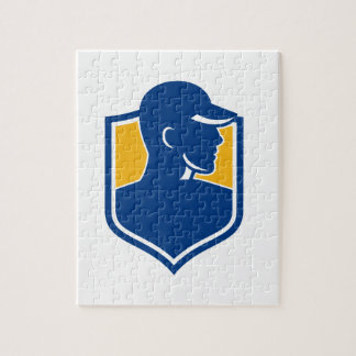 Industrial Worker Crest Icon Jigsaw Puzzle
