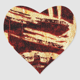 Industrious hell heart sticker