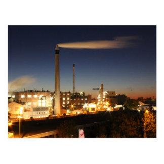 Industry at Night Postcard