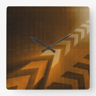 Industry Trends or Business Trending of Data Square Wall Clock