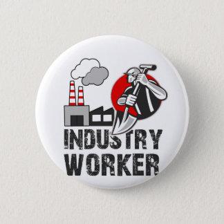 Industry worker 2 inch round button