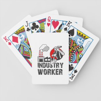 Industry worker bicycle playing cards