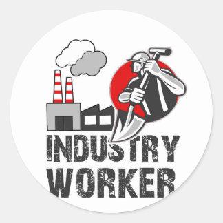 Industry worker classic round sticker