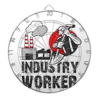 Industry worker dartboard