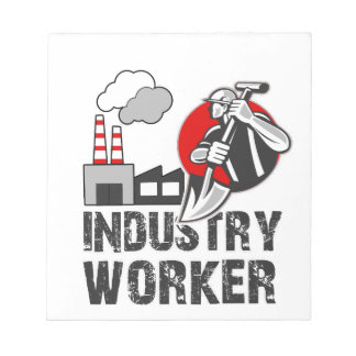 Industry worker notepad