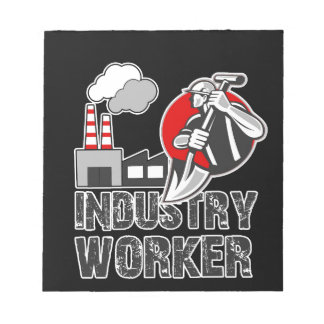 Industry worker notepads