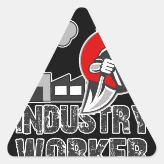 Industry worker triangle sticker