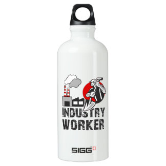 Industry worker water bottle
