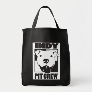 Indy Pit Crew Logo Grocery Tote