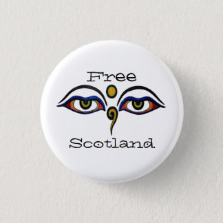 Indy Scotland Buddha Eyes Art Button Badge