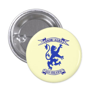 Indy Scottish Lion Rampant Gaelic Badge 1 Inch Round Button