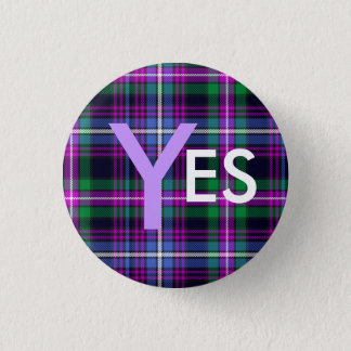 Indy Tartan Yes Scotland Independence Pinback 1 Inch Round Button