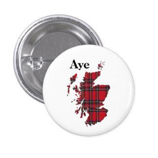 #indyref Tartan Aye Scotland Pinback 1 Inch Round Button
