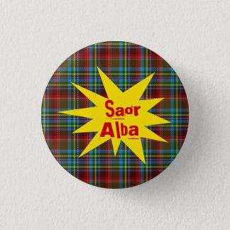 #indyref Tartan Punk Saor Alba Scotland Pinback 1 Inch Round Button